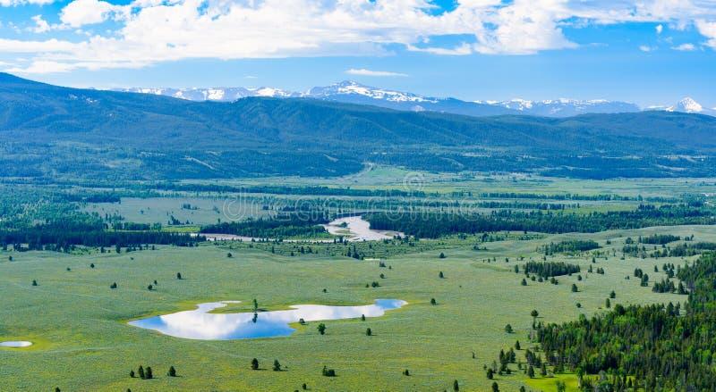 从信号山,大蒂顿国家公园的看法 图库摄影
