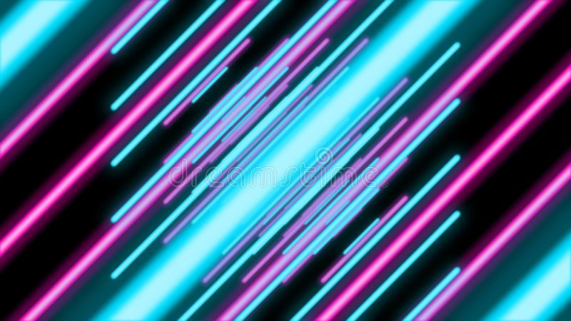 从倾斜的线的抽象五颜六色的隧道 向量例证