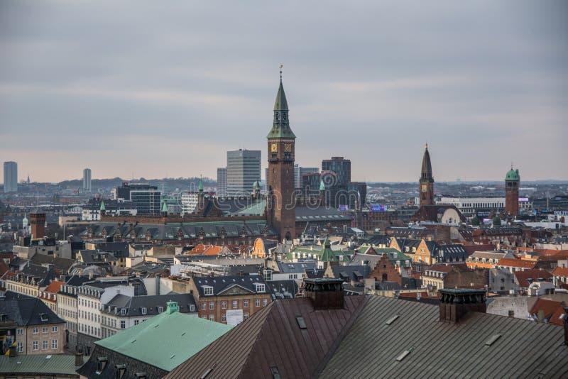 从克里斯蒂安堡塔的看法 哥本哈根 丹麦 图库摄影