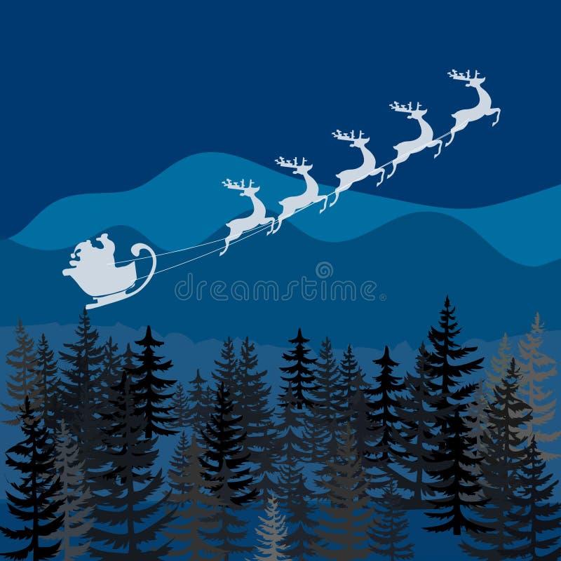 从全世界圣诞老人的圣诞快乐 库存例证