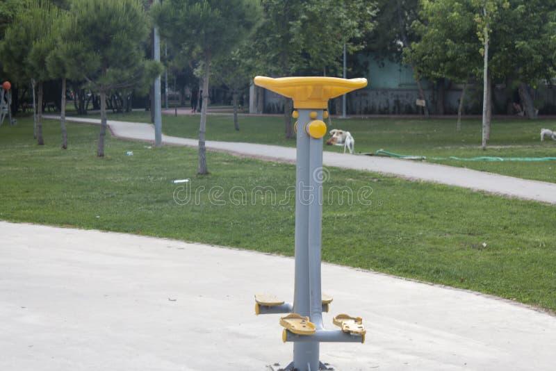 从公园的一条走的带 库存照片