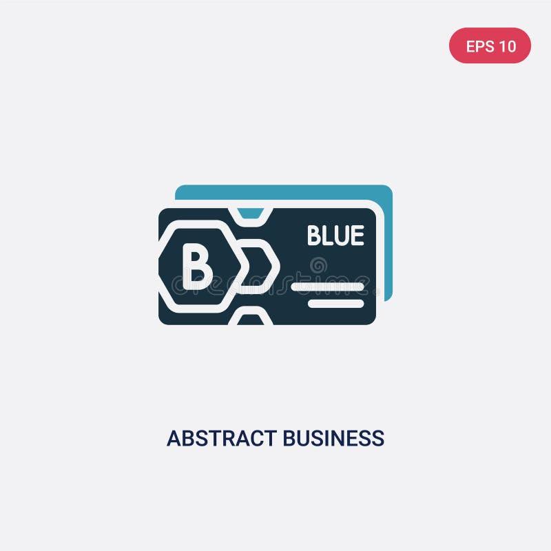 从其他概念的两种颜色的抽象名片传染媒介象 被隔绝的蓝色抽象名片传染媒介标志标志可以是 向量例证