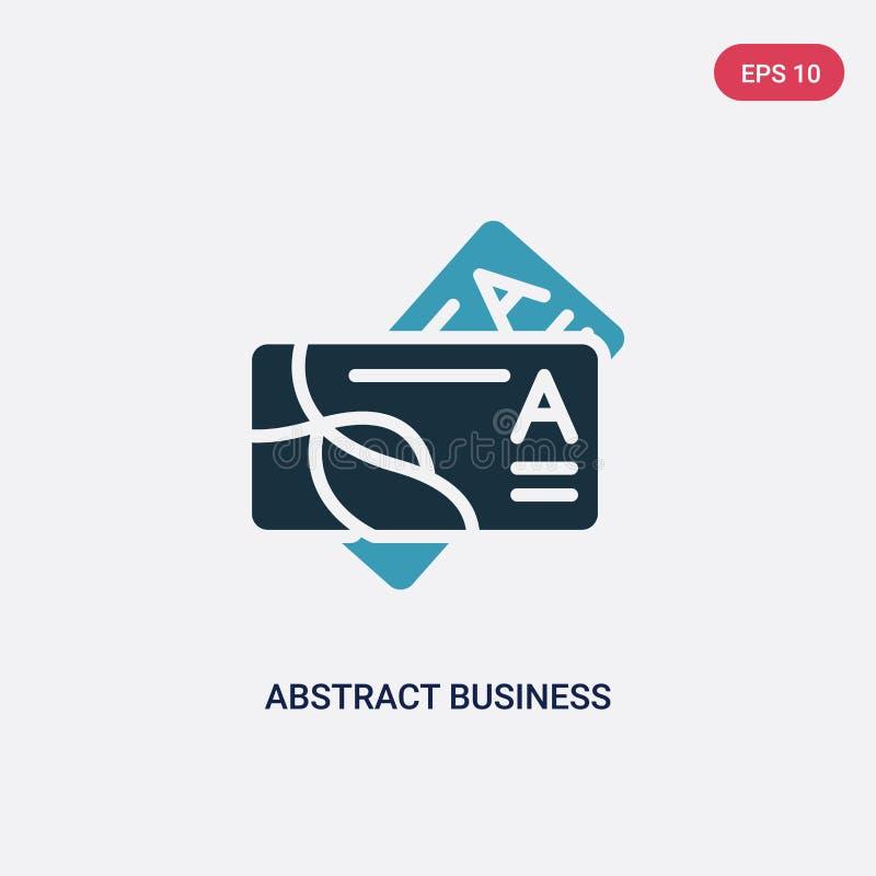 从其他概念的两种颜色的抽象名片传染媒介象 被隔绝的蓝色抽象名片传染媒介标志标志可以是 库存例证