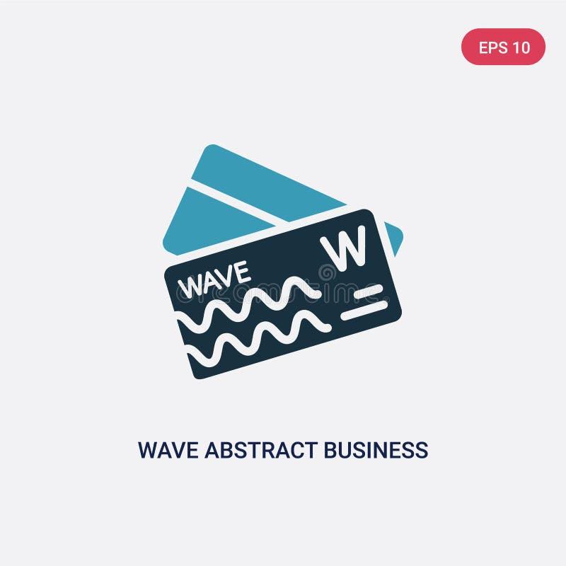 从其他概念的两种颜色的波浪摘要名片传染媒介象 被隔绝的蓝色波浪摘要名片传染媒介标志标志 皇族释放例证