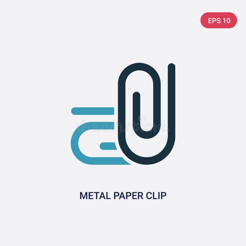 从其他概念的两种颜色的金属纸夹传染媒介象 被隔绝的蓝色金属纸夹传染媒介标志标志可以是网的用途, 皇族释放例证