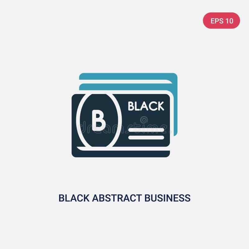 从其他概念的两种颜色的黑抽象名片传染媒介象 被隔绝的深蓝色抽象名片传染媒介标志 向量例证