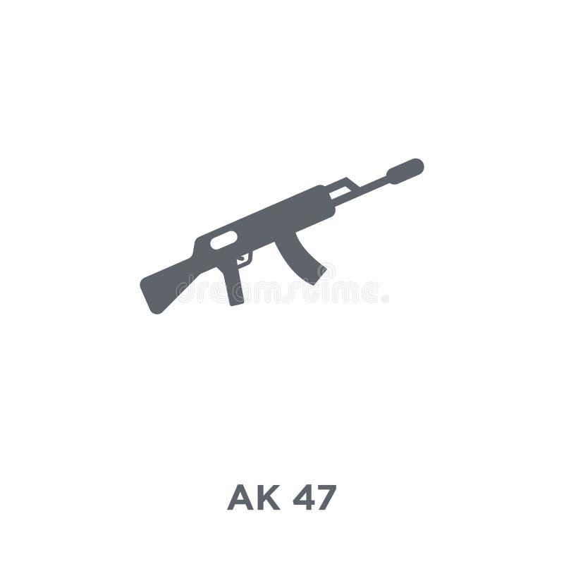 从军队汇集的AK-47象 皇族释放例证