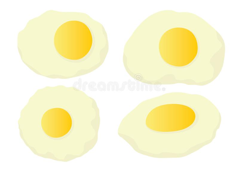 从农场的新鲜的鸡蛋白色背景的 向量例证