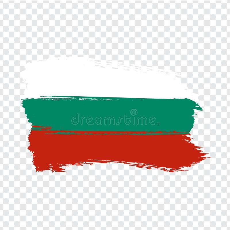 从刷子冲程的旗子保加利亚 在透明背景您的网站设计的,商标,应用程序,UI的旗子保加利亚 库存例证