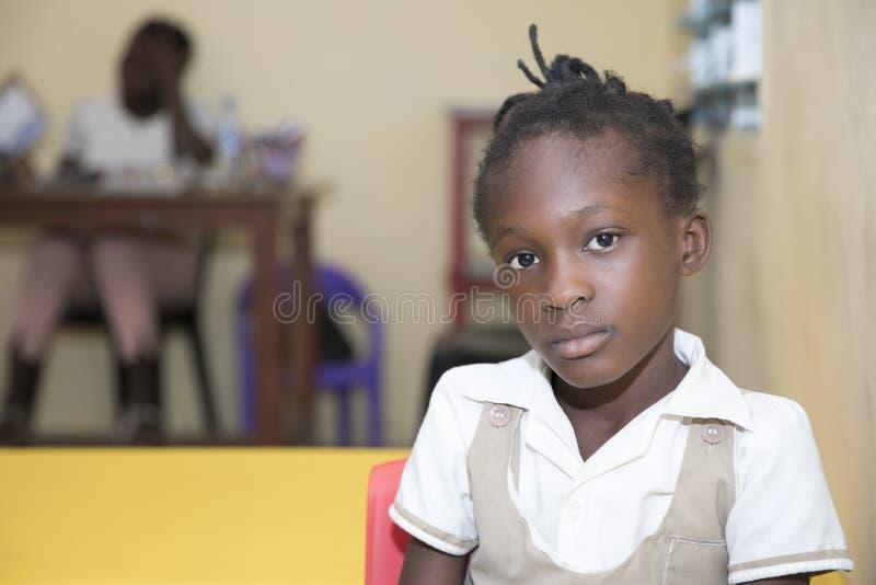 从加纳,西非的基本的小学生 免版税图库摄影