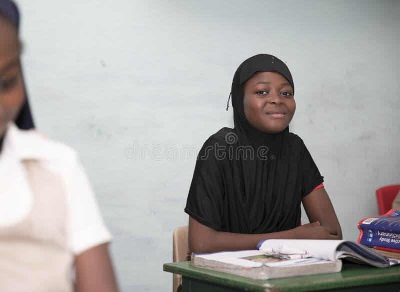 从加纳,西非的基本的小学生 库存图片