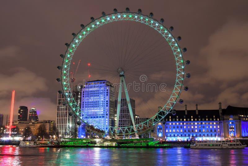 从北部银行的伦敦眼 图库摄影