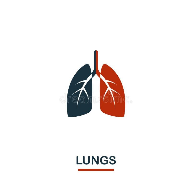 ?? 从医疗保健象汇集的创造性的设计 网络设计的两种颜色的肺象,应用程序,软件,印刷品 库存例证