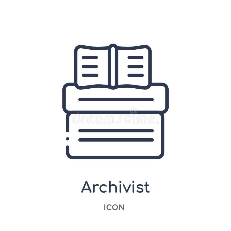 从博物馆概述汇集的管理档案者象 稀薄的线在白色背景隔绝的管理档案者象 皇族释放例证