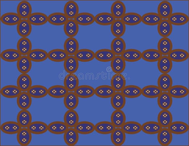 从印度尼西亚的蜡染布Kawung 皇族释放例证