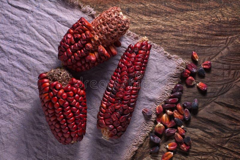 从厄瓜多尔的祖传遗物玉米土气设置的 免版税库存图片