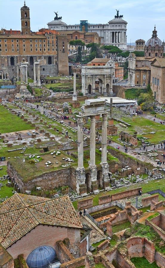 从古罗马广场的一个看法 库存图片