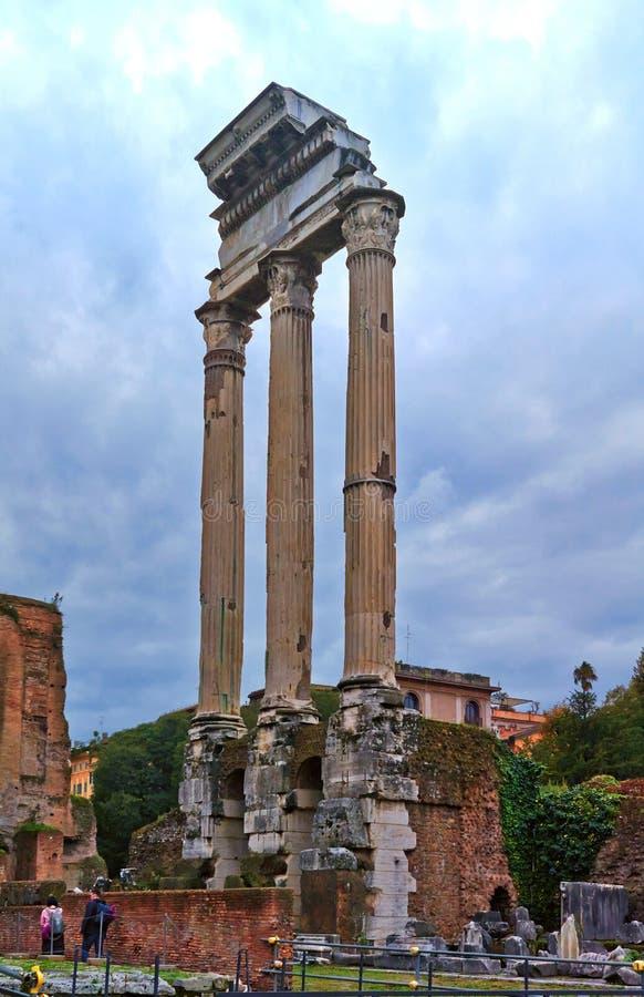 从古罗马广场的一个看法 免版税图库摄影