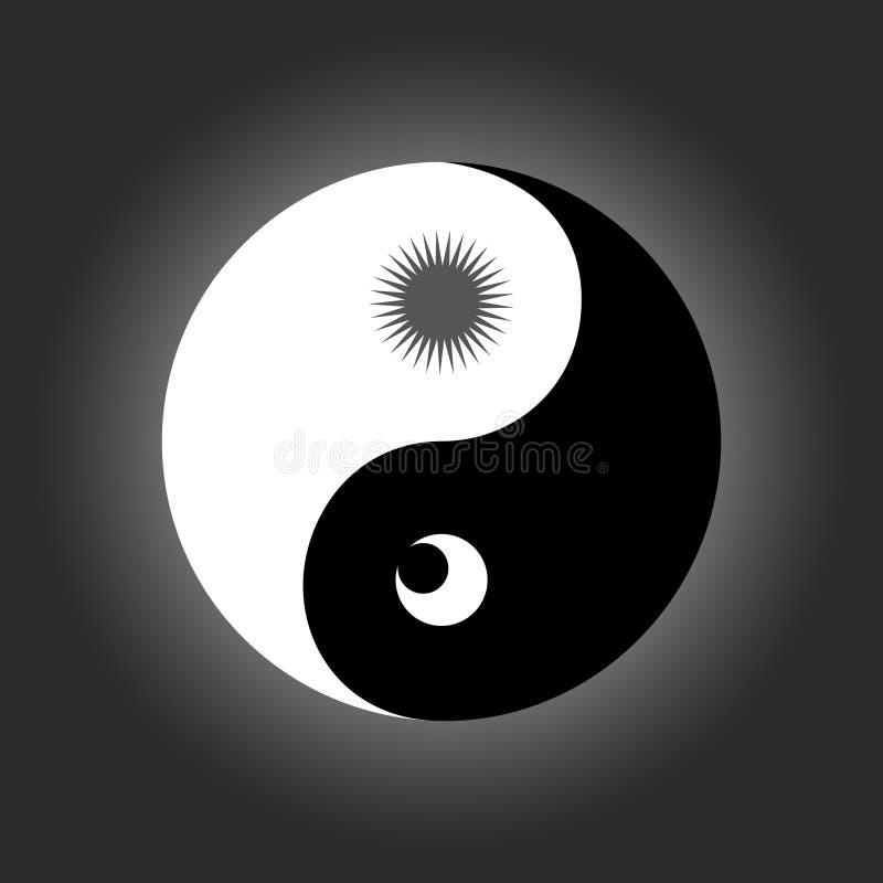 从古老中国哲学的阴山杨标志 皇族释放例证
