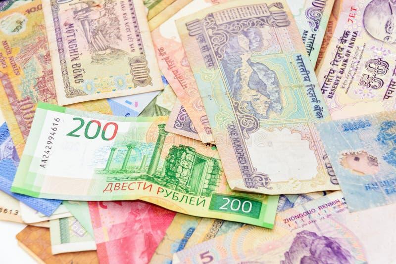 从另外国家背景的现金金钱 库存照片