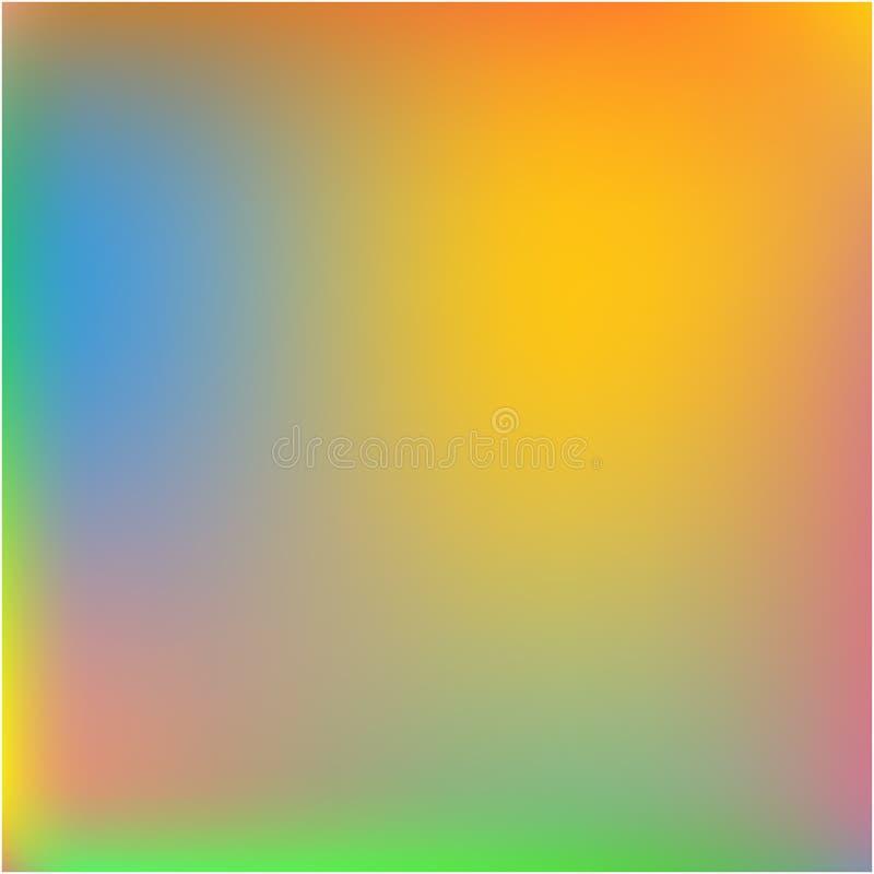 从各种各样的组合的明亮的被弄脏的图表 库存例证