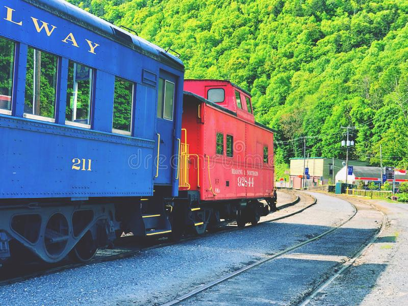 从吉姆・索普驻地的一列火车 图库摄影