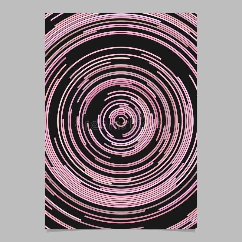 从同心半圈的桃红色圆的抽象飞行物背景模板 皇族释放例证