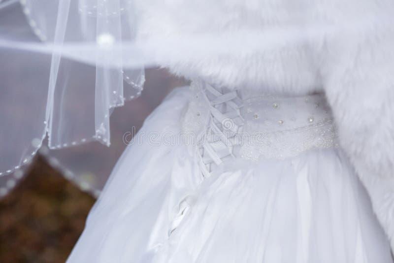 从后面的新娘 免版税库存图片