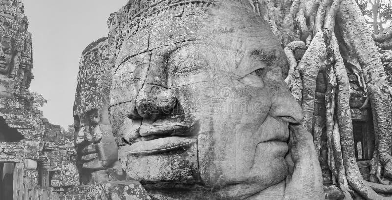 从吴哥窟的图象的拼贴画在柬埔寨 库存图片