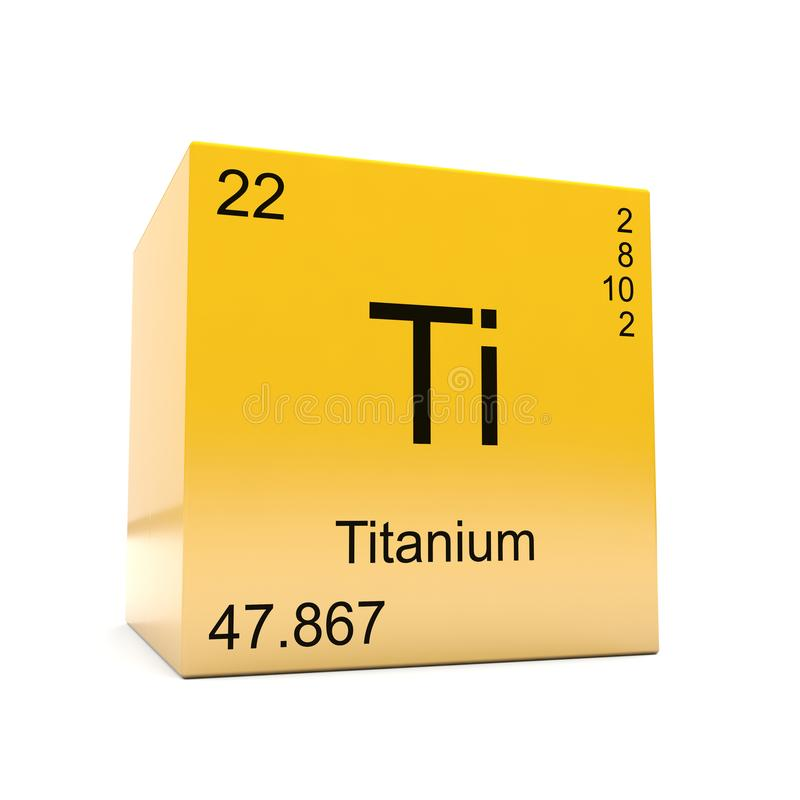 从周期表的钛化学元素标志 向量例证