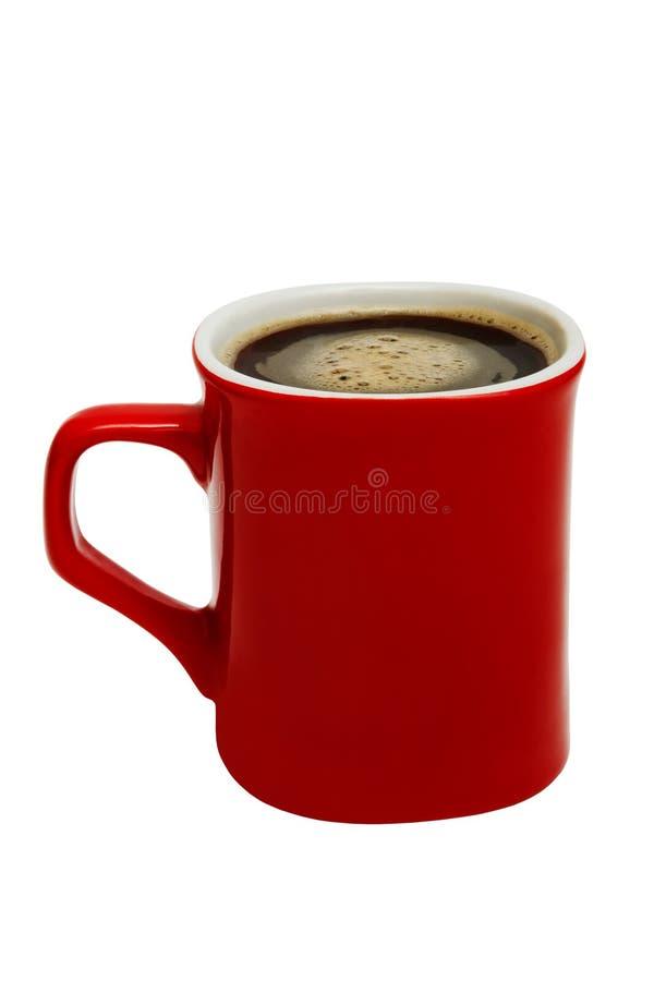 从咖啡的红色杯子 库存照片