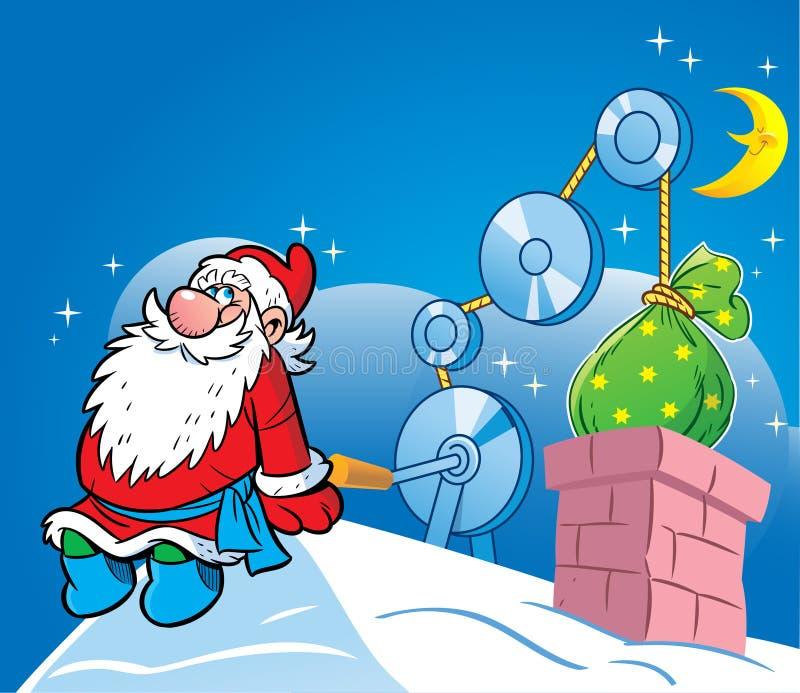 从圣诞老人的礼品 向量例证