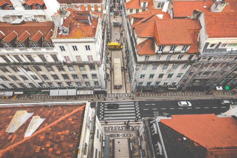 从圣诞老人Justa推力,里斯本,葡萄牙的看法 免版税库存图片
