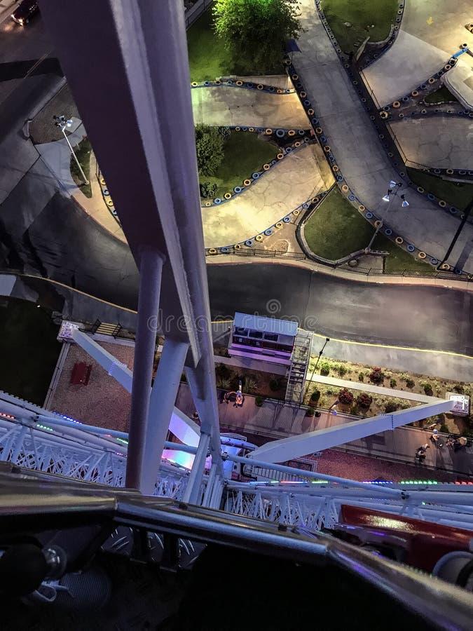 从在大弗累斯大转轮上面的看法 图库摄影