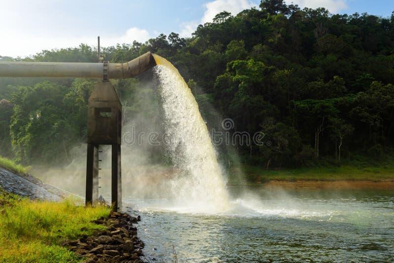 从在水的生产的流失浇灌 免版税库存图片