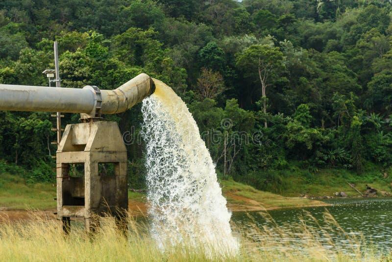 从在水的生产的流失浇灌 库存图片