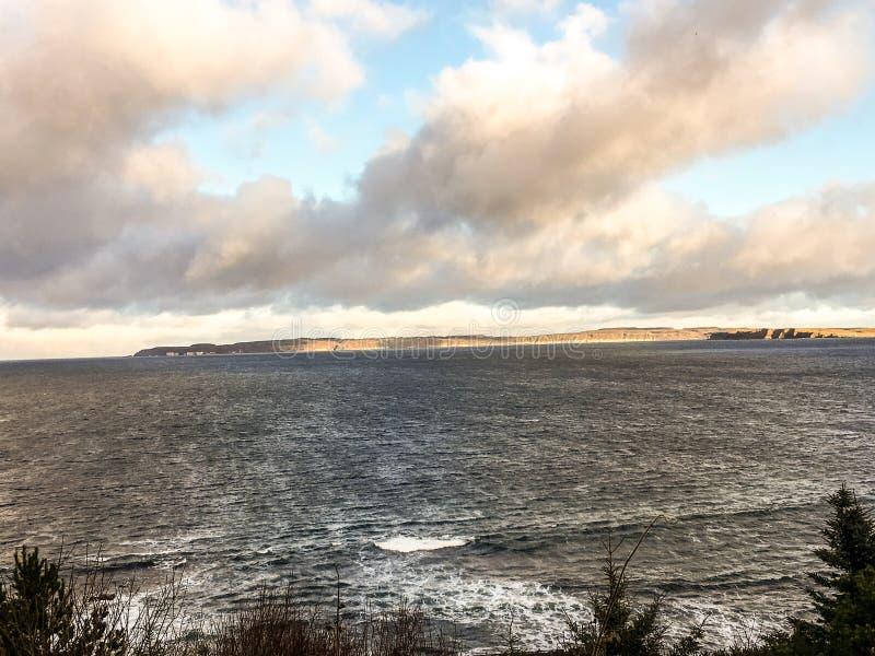 从在Ballycastle附近的Rathlin海岛 免版税库存照片