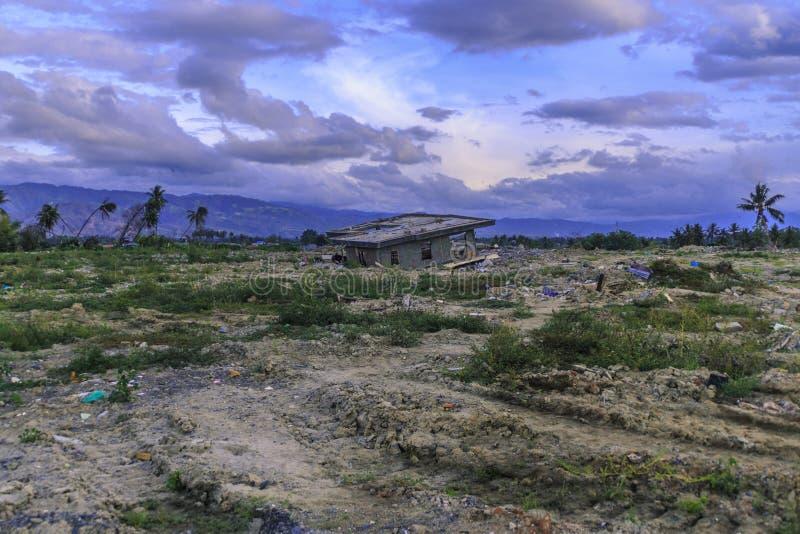 从地震和液化的严重损伤 免版税库存图片