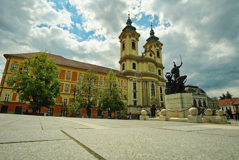 从埃格尔环境美化,匈牙利3的中世纪中心 库存图片