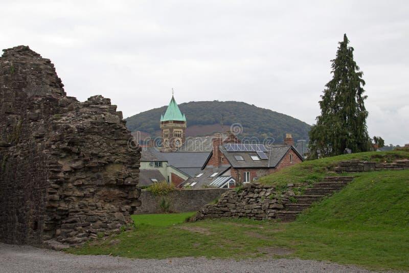 从城堡废墟 免版税库存照片