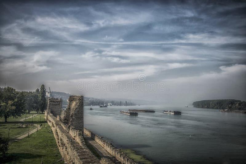从堡垒的多瑙河 图库摄影