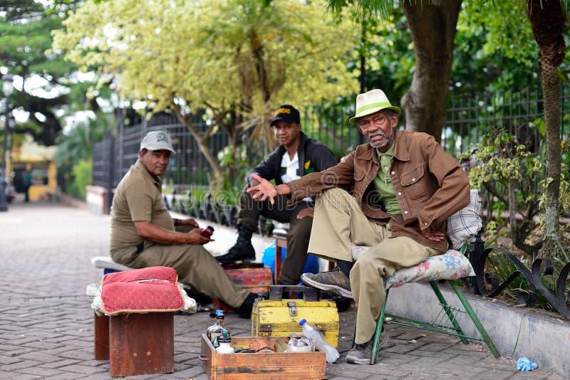 从多米尼加共和国的人们 免版税库存图片