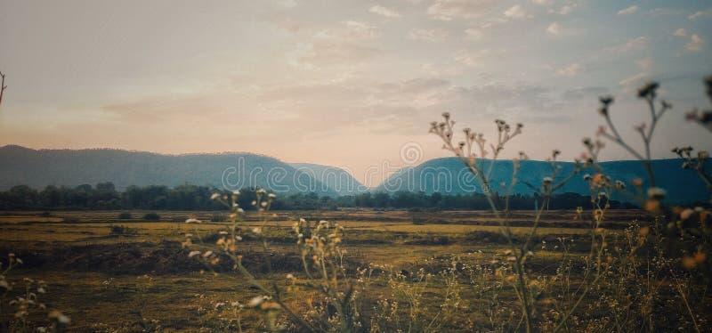 从天堂的山 库存照片