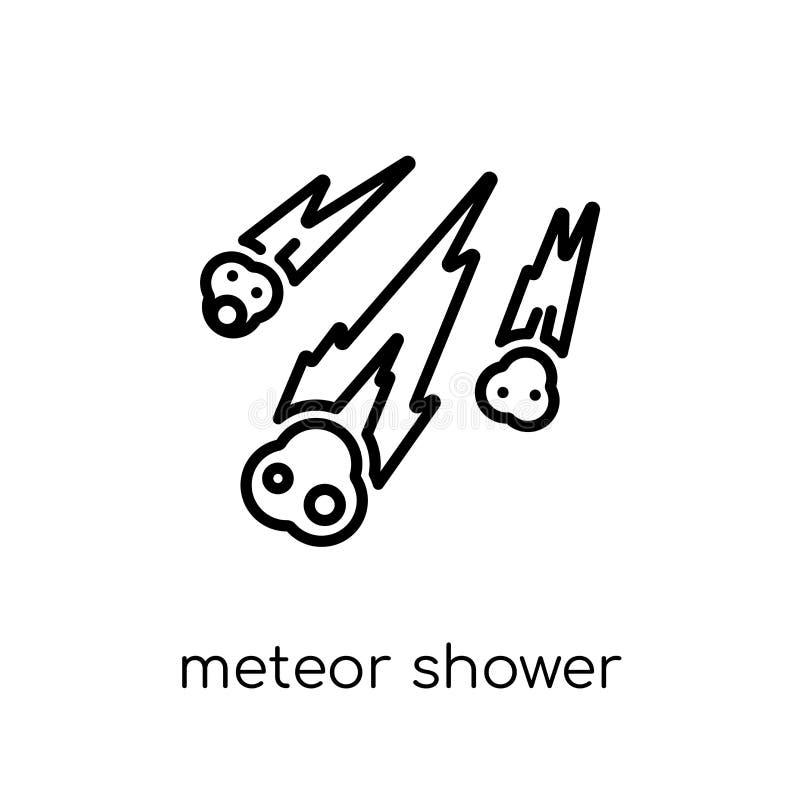 从天文汇集的流星雨象 库存例证