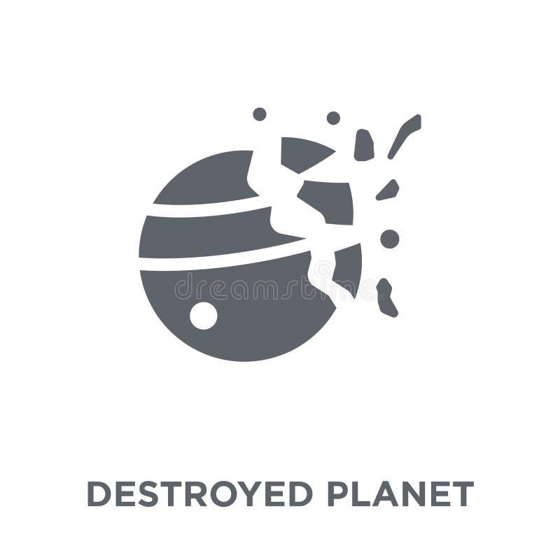 从天文汇集的被毁坏的行星象 向量例证
