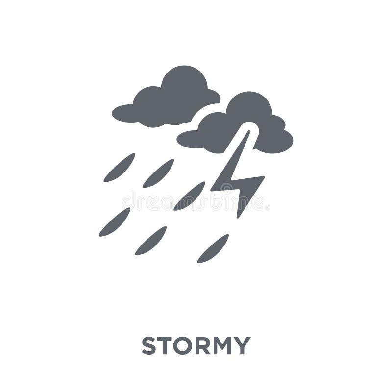 从天气汇集的风雨如磐的象 皇族释放例证