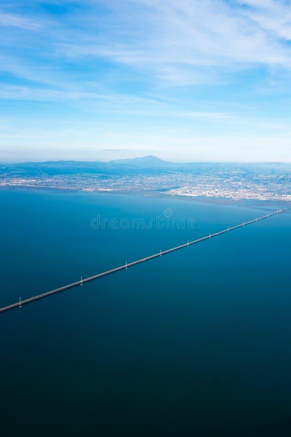 从天空的圣马特奥桥梁 库存图片