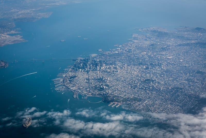 从天空的旧金山 免版税图库摄影