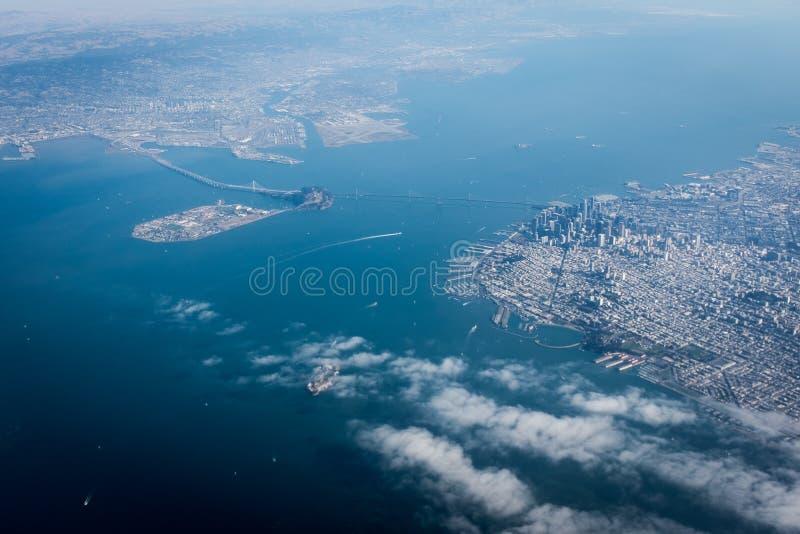 从天空的旧金山 库存图片
