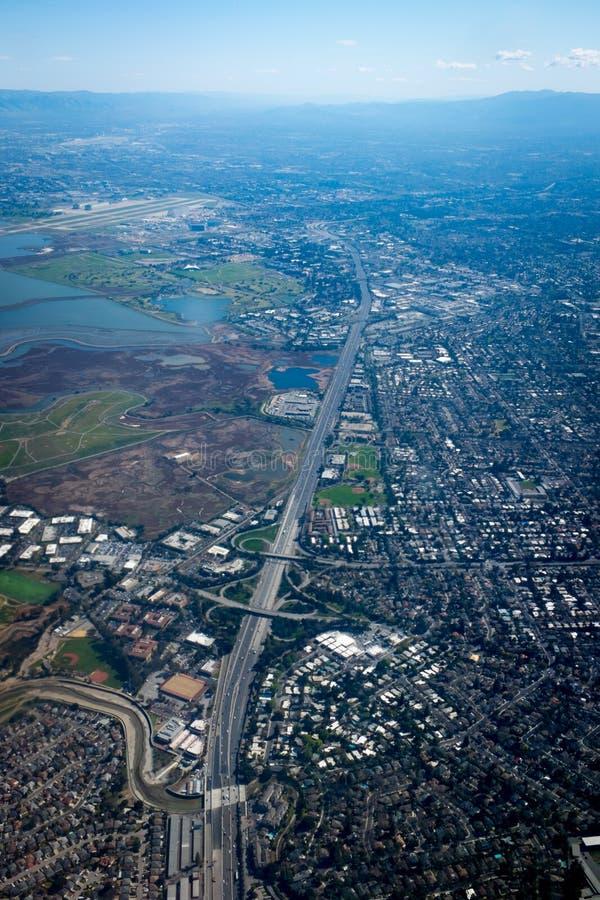 从天空的雷德伍德市 图库摄影
